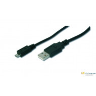 ASSMANN USB 2.0 HighSpeed Connection Cable USB A M (plug)/microUSB B M (plug) 1m AK-300127-010-S