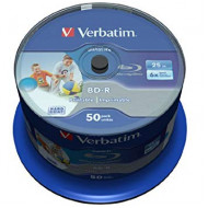 BluRay BD-R SL DATALIFE Verbatim [ Spindle 50   25GB   6x [WIDE PRINTABLE NO ID] 43812