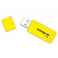 Integral USB Flash Drive NEON 8GB USB 2.0 - Yellow INFD8GBNEONYL