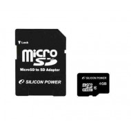 SILICON POWER 4GB Micro Secure Digital Card CL4 + adapter