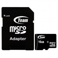 TeamGroup 16GB microSDHC CL10 + Adapter  (TUSDH16GCL1003)