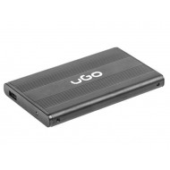 Natec UGO HDD/SSD enclosure for 2.5'' SATA - USB2, Aluminum, black UKZ-1003