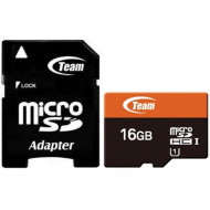 TeamGroup 16GB microSDHC Class 10 UHS-I + adapterrel