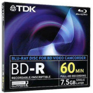 Disk BD-R TDK for camcorder 7,5GB BD-R8JC2EA
