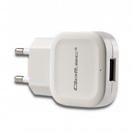 Qoltec AC adapter for Smartphone / Tablet | 12W | 5V | 2.4A | USB | white 50193