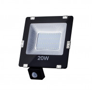 ART External lamp LED 20W,SMD,IP65, AC80-265V,black, 4000K-W, sensor L4101555