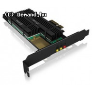 IcyBox PCIe extension card for 2x M.2 SSDs, heat sinks IB-PCI215M2-HSL