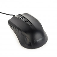 Gembird optical mouse MUS-4B-01, 1200 DPI, USB, Black, 1.35m cable length MUS-4B-01