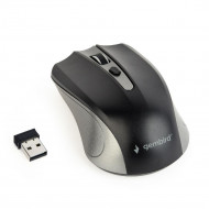 Gembird Wireless optical mouse MUSW-4B-04-GB, 1600 DPI, nano USB,spacegrey/black MUSW-4B-04-GB