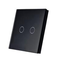 SmartWise T1R2B (R2) kettős/csillár RF (rádiós), alternatív / keresztváltó kapcsoló / fali RF távirányító (fekete) SMW-KAP-T1R2B-R2